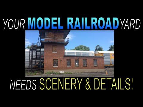 MODEL RAILROAD YARD SCENERY TIPS