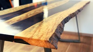 Dining table - Ironwood/Katalox Live Edge - Commented DIY version