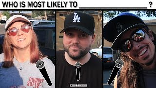 """SOFTBALL CREW PLAYS """"WHO IS MOST LIKELY TO?"""" 