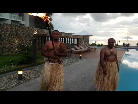 Evening fire ceremony in the Grand Palace Hotel in Suva, Fiji
