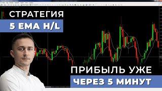 Скальпинг стратегия 5 EMA H/L | Сделки каждые 5 минут