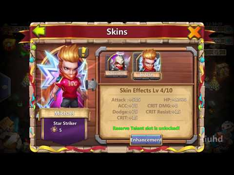 Hero Skin Enhancement Upto Level 6 - Castle Clash New Update
