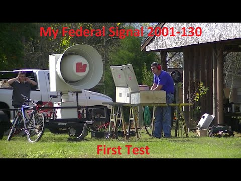 My Federal Signal 2001-130 (DC) Outdoor Warning Siren First Test, Silent Test & Attack 11/21/15