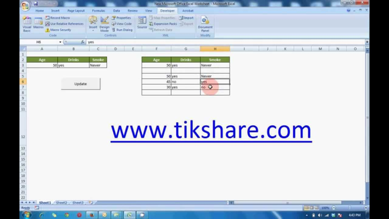 How To Create A Simple Database In Ms Excel To Store Data