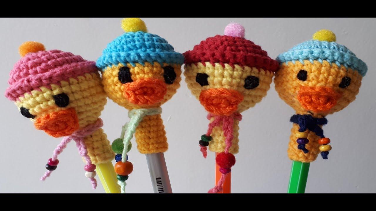 AMİGURUMİ ÖRDEK KALEM SÜSÜ (Crochet making a duck pen heading)