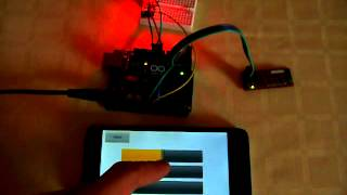 Arduino Bluetooth RGB LED controlled from Android phone with RoboRemo app