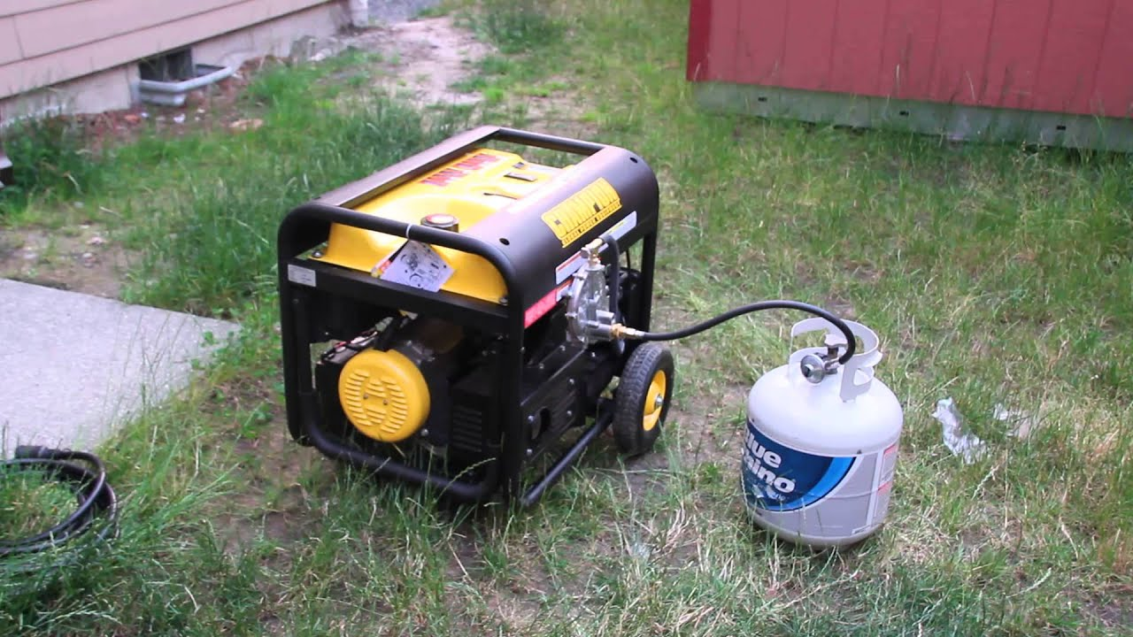 Champion Generator Running on Propane Gas