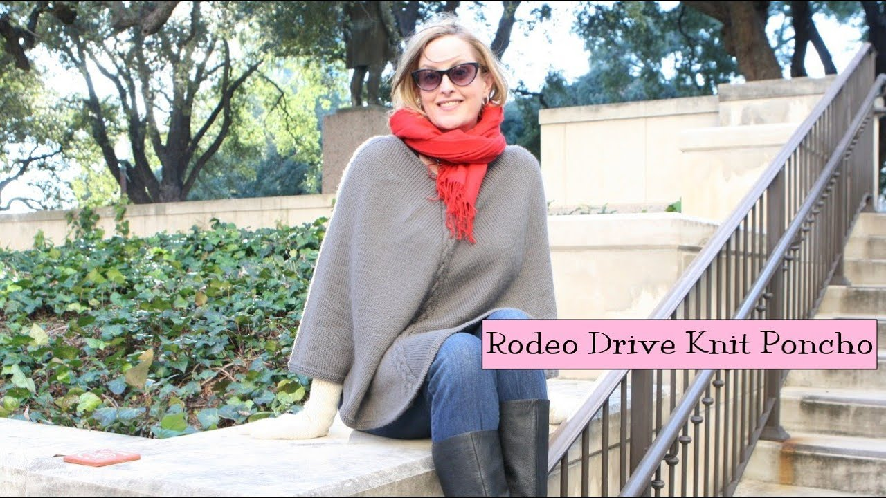 Rodeo Drive Knit Poncho - YouTube