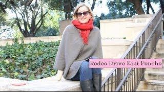 Rodeo Drive Knit Poncho