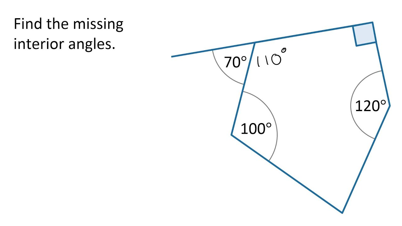worksheet Find The Missing Angle Measure Worksheet year 8 finding missing angles in a polygon youtube polygon