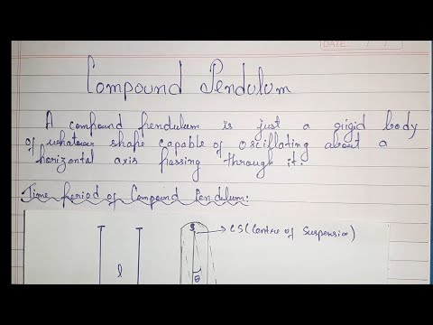 Compound Pendulum || Concept And Derivation || PDF Notes In Description