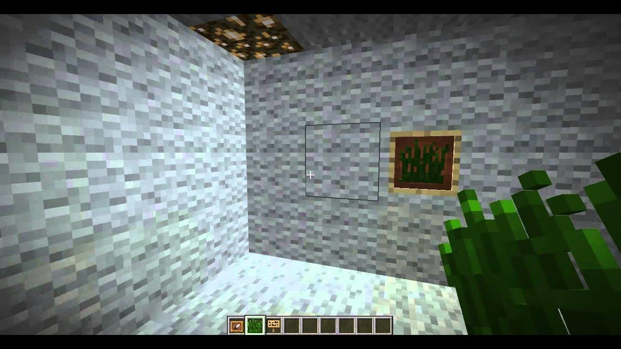 Wie macht man bei Minecraft (1.5.2.) einen Bilderrahmen selbst ...