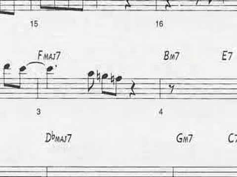 Animated Sheet Music Giant Steps By John Coltrane Youtube