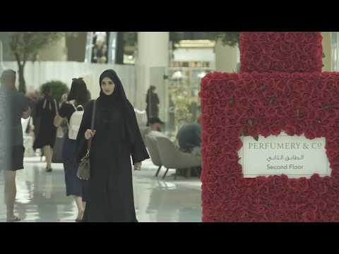 Perfumery & Co telephone booth, Dubai Summer Surprises. Powered by Power Interactive