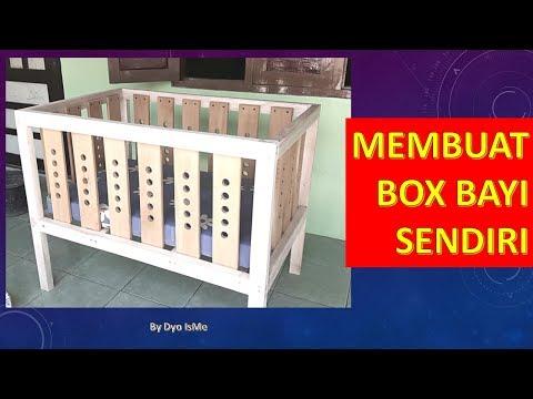 Cara membuat box  bayi / tempat tidur bayi || DIY CRIB