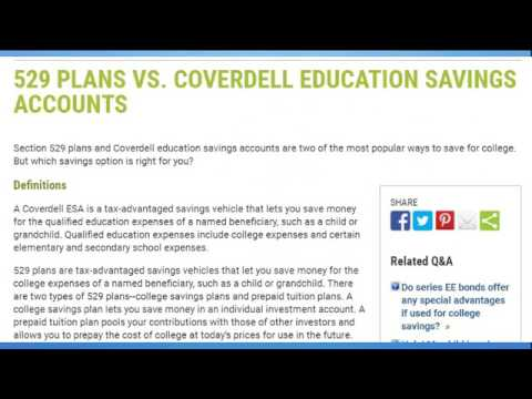 coverdell education savings account calculator - YouTube