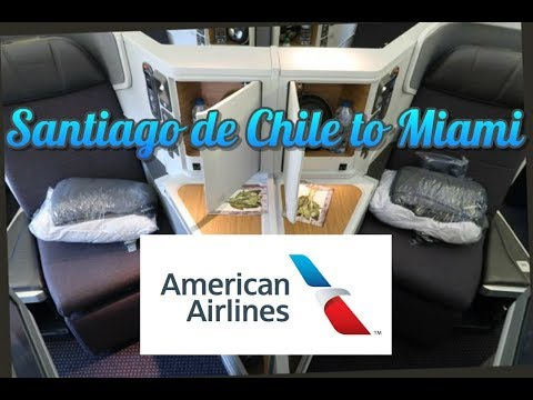 American Airlines BUSINESS CLASS 777 Santiago de Chile to Miami