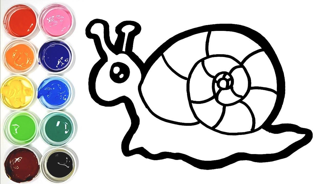 Dessiner Un Escargot Pour Bebe Coloriage Pour Les Enfants Youtube