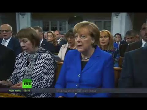 'Get Out!' Merkel booed at protest while attending German Unity Day ceremony