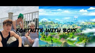 anthony reeves and bryce hall play Fortnite | let's play Fortnite | twich luvanfonyplaysgames
