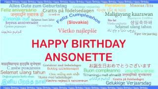 Ansonette   Languages Idiomas - Happy Birthday