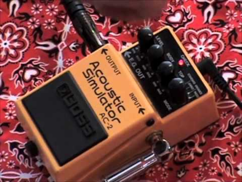 boss ac 2 acoustic simulator guitar effects pedal demo youtube. Black Bedroom Furniture Sets. Home Design Ideas