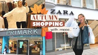 COME AUTUMN SHOPPING WITH ME... PRIMARK, ZARA, TOPSHOP, NEWLOOK & MORE