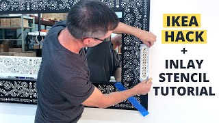 How To Stencil Ikea Mirror With Inlay Stencils for Easy DIY Project