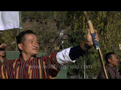 Mid-winter Archery game in Thimphu - Bhutan's favourite pastime