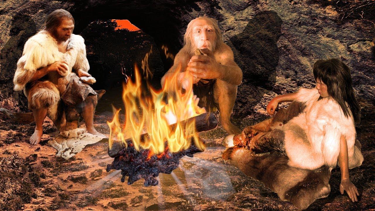 Картинки пещерный человек у костра