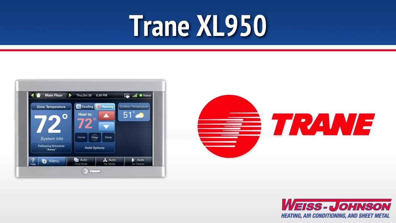 Trane XL950 Thermostat YouTube