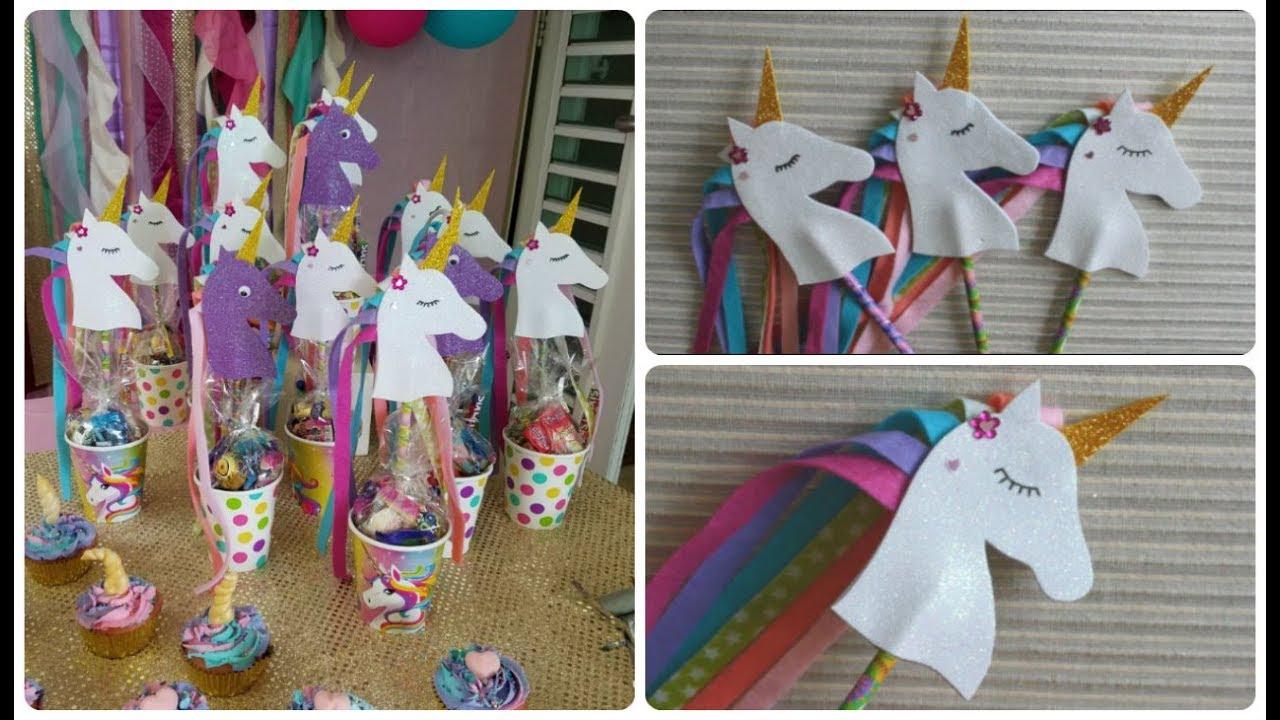 05a0e0aa5 Como hacer Unicornios de Foami para souvenirs de cumpleaños - YouTube