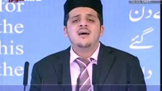 Ahmadiyya : Nazm Hai Shukre Rabbe at Concluding Session from London Jalsa Qadian 2009 Part 2/3