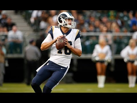Jared Goff vs Raiders (Preseason Week 2) - 16/20 160 Yards + TD! | 2017-18 NFL Highlights HD