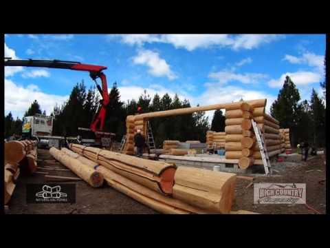 Natural Log Homes - Timelapse - Twizel