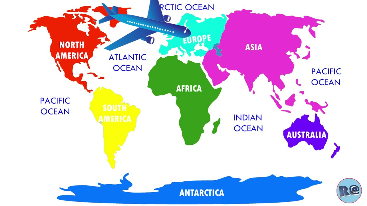 7 Continents Of The World For Kids Animation Youtube