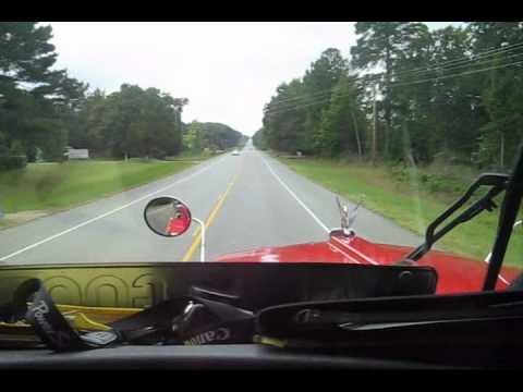 Hank2 's Trucking on 2 Lane Arkansas Roads  Pine Bluff to Crossett.wmv