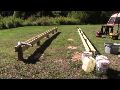 Post & beam foundation @ the off grid homestead part 1