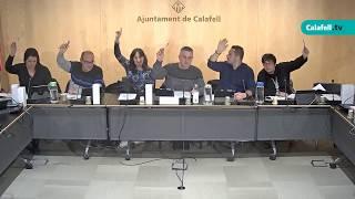 Ajuntament de Calafell: Sessió plenària ordinària, 12 de desembre de 2019