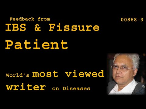 Feedback From  IBS And Fissure Patient - Health00868-3
