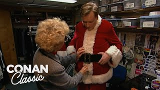 "Conan Becomes A Department Store Santa - ""Late Night With Conan O'Brien"""