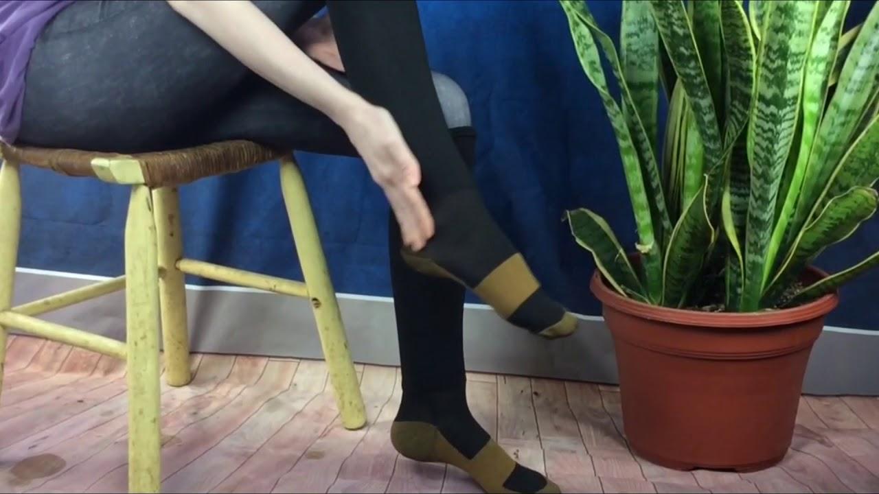 5fd122d649d Fitness: Savoon Fitness tru-Copper Compression Socks - YouTube