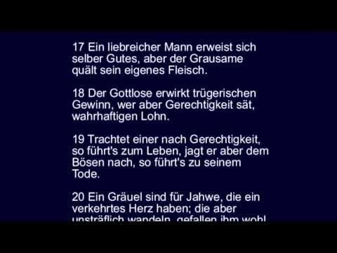 Sprüche 30 - der Fromme/Rechtschaffene und der Gottlose/Egoist im ...