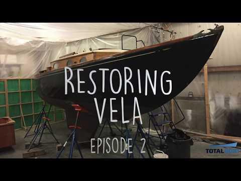 Restoring Vela, A Classic Plastic Sailboat  - Episode 2