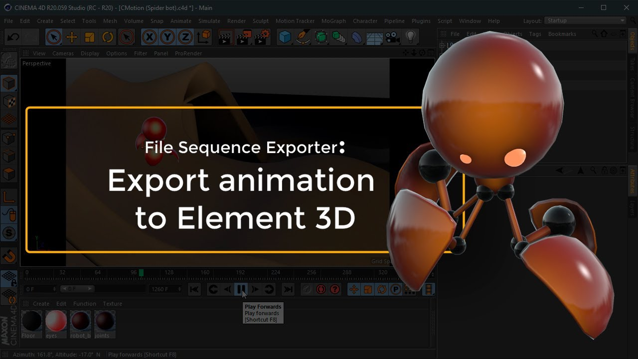 How To Export An Animation From Cinema 4d To Element 3d Aescripts Aeplugins Aescripts Com