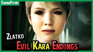 Detroit Become Human - EVIL KARA Secret Ending - Zlatko Endings - How to Escape the Memory Machine