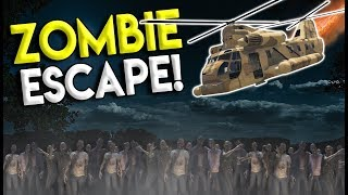 HELICOPTER ESCAPE IN THE ZOMBIE APOCALYPSE! - GTA 5 Mod Gameplay - Zombie Multiplayer Roleplay