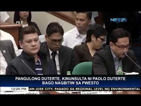 Ilang senador pinapurihan ang ginawang pagbibitiw ni Davao City vice mayor Duterte