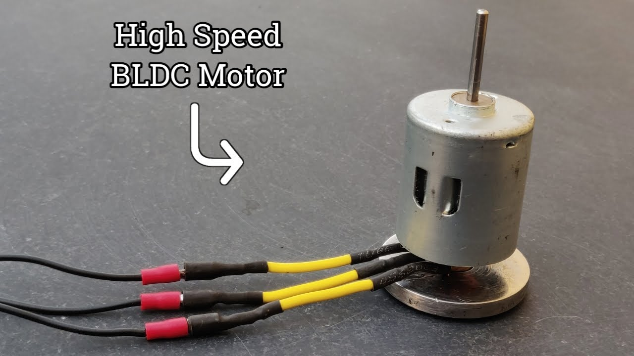 Making Powerful Brushless Motor From DC Brushed Motor