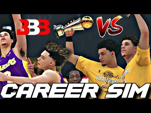THE BALL BROTHERS CAREER SIMULATION VERSUS ON NBA2K18!! WHO IS THE BEST BALL?